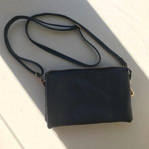 Vintage navy blue cross body purse